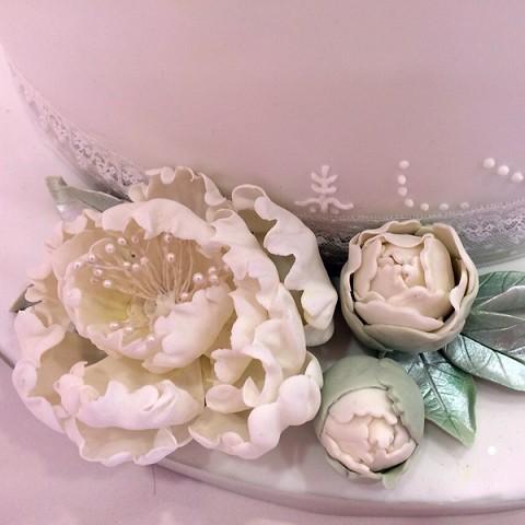 Tarta rosas y flores
