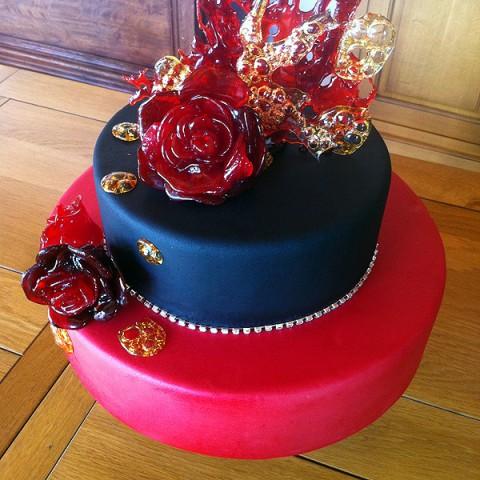 Tarta roja & negra