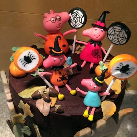Tarta Peppa Pig Halloween