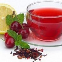 Té de frutas con miel de agave