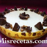 Tarta de chocolate blanco a la naranja