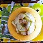 Manzanas asadas al microondas